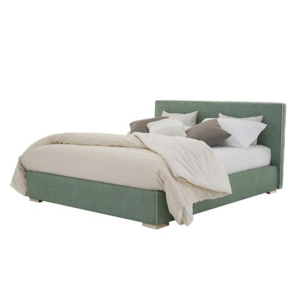 Double bed in fabric or eco-leather with container Made in Italy - Etoile