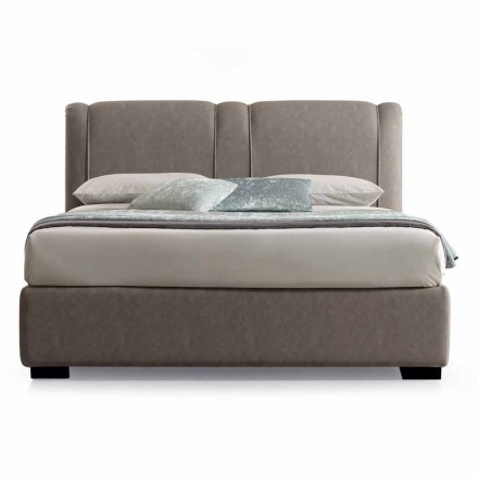 Modern Double Bed with Fireproof Leather Box - Ania