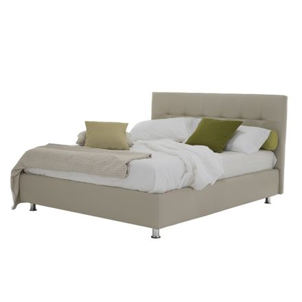 Luxury Modern Double Bed with Storage Box Made in Italy - Orfei
