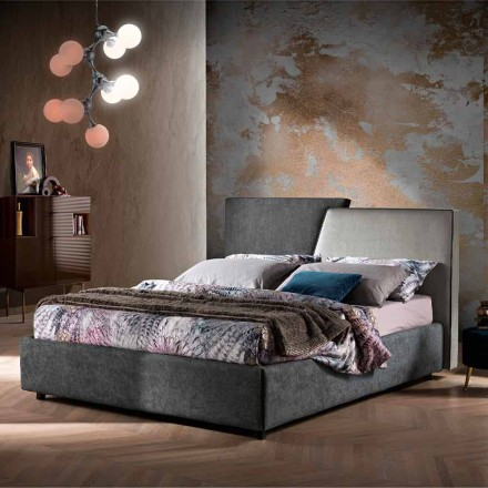 Modern Double Bed Upholstered Quilted or Smooth Design - Aftamo