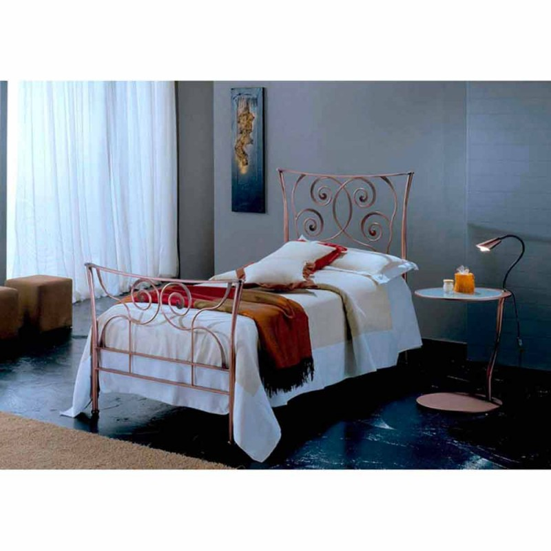 Single Bed in Wrought Iron Ares