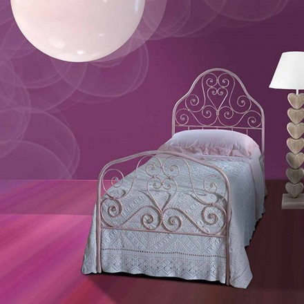 Wrought-iron single bed Calla