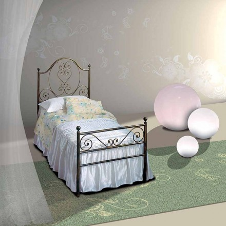 Wrought-iron single bed Gea