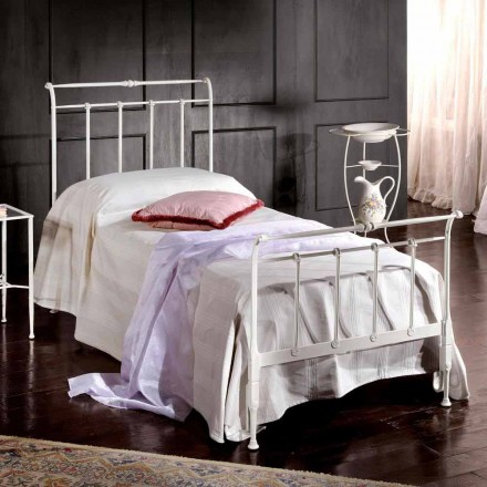 Italian wrought iron single bed Amanda, classic design