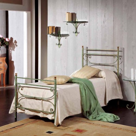 Italian wrought iron single bed Leila, classic design