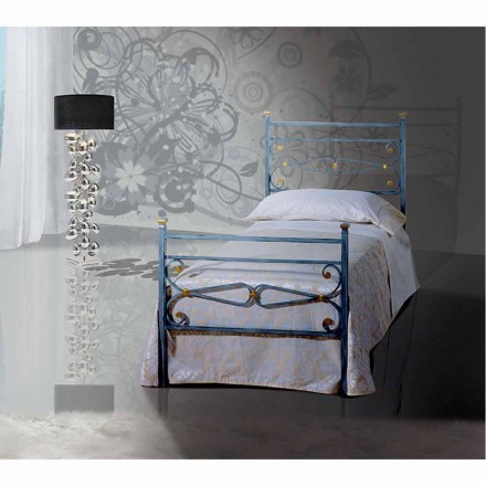 Wrought-iron single bed Topazio