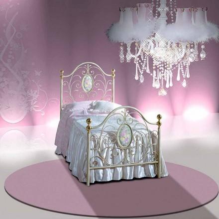 Wrought-iron single bed Turchese