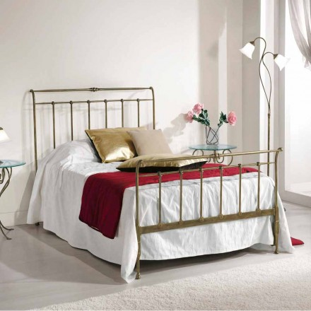Wrought iron small double bed Kelly, made in Italy, classic design