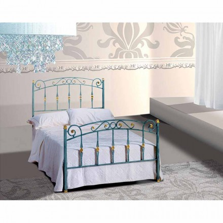 Wrought-iron small double bed Diamante