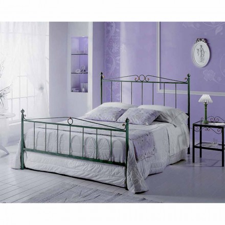 Wrought-iron small double bed Fauno