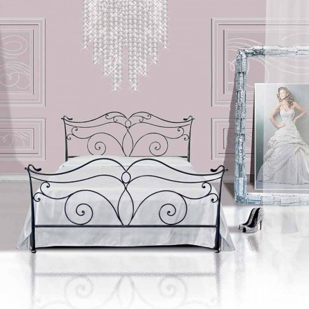 Wrought-iron small double bed Febo