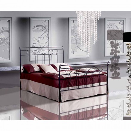 Wrought-iron small double bed Garofano