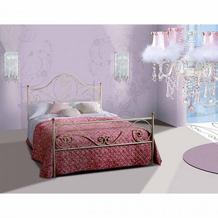 Wrought-iron small double bed Gea