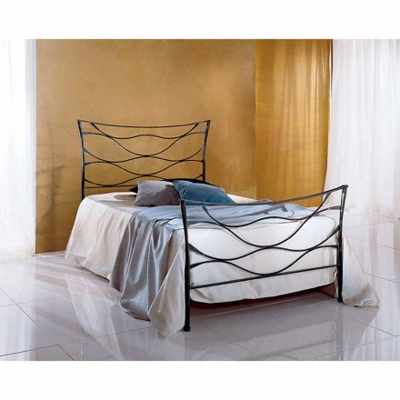 Wrought-iron small double bed Idra