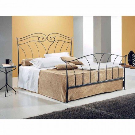 Wrought-iron small double bed Nettuno