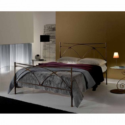 Wrought-iron small double bed Persefone