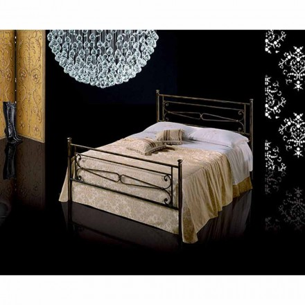 Wrought-iron small double bed Topazio