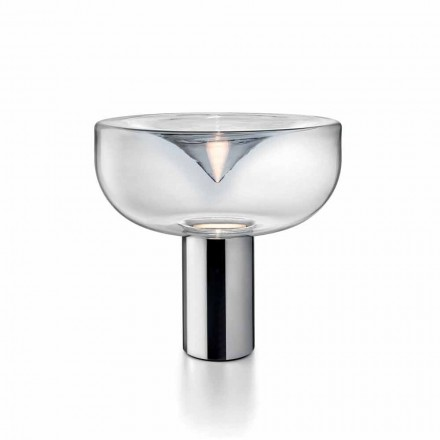Leucos Aella crystal glass LED RGB table lamp, modern design