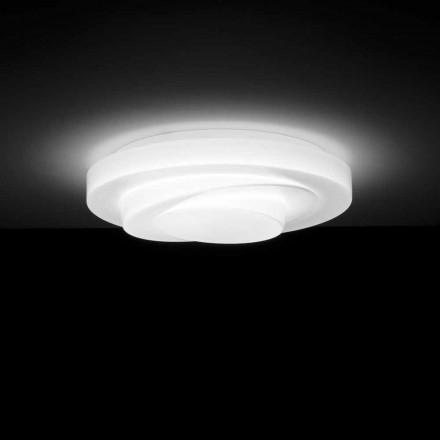 Leucos Loop Line LED ceiling lamp / wall sconce made of satin glass