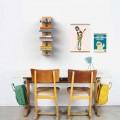 Suspended wall-mounted design bookcase Zia Ortensia