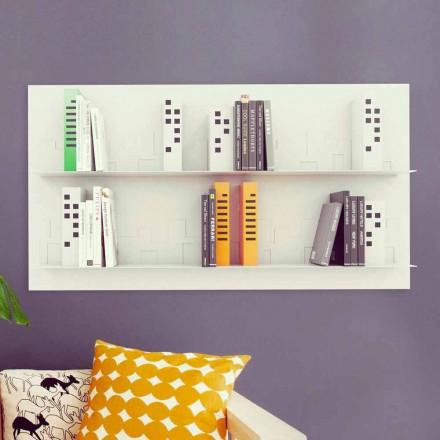 Designer bookcase Skyline 130x70 cm by Mabele