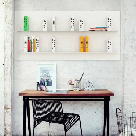 Designer bookcase Skyline 186x86 cm by Mabele