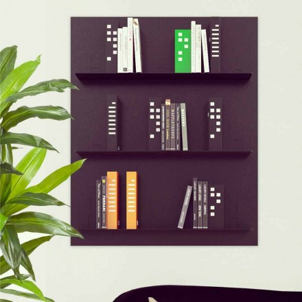 Wall mounted designer bookcase Skyline by Mabele