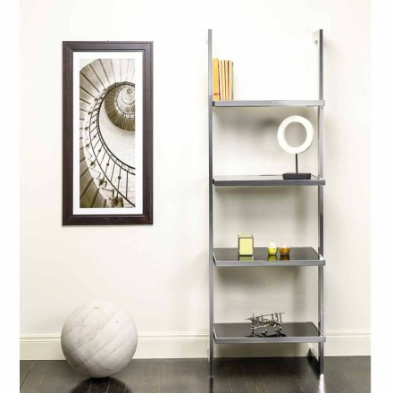 Wall and steel bookcase in design 60x180x44cm Tafre