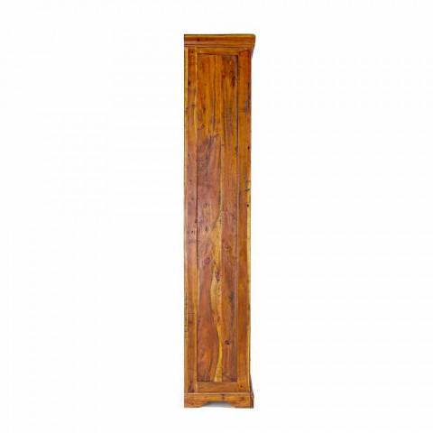 Classic Design Floor Bookcase in Solid Acacia Wood Homemotion - Umami
