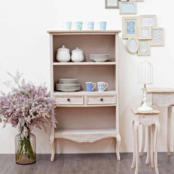 Classic Design Floor Bookcase with Homemotion Wooden Structure - Jollie