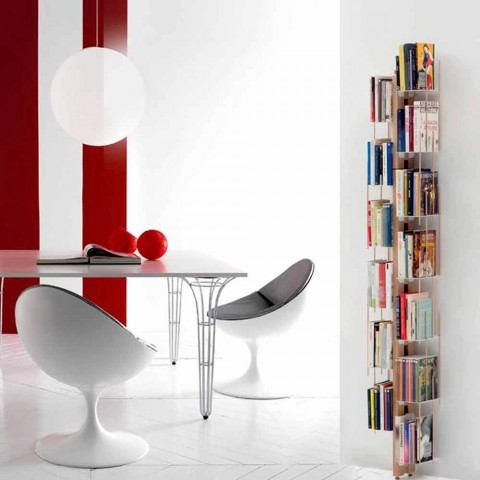 Zia Veronica modern floor-mounted bookcase made in Italy