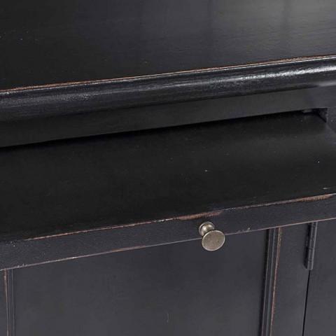 Classic Design Wooden Bookcase with Homemotion Decorative Ladder - Cedar
