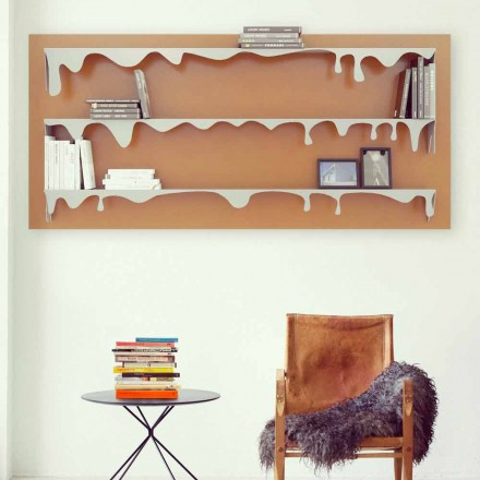 Modern design modular bookcase Kolata 130x70 (3 shelves)