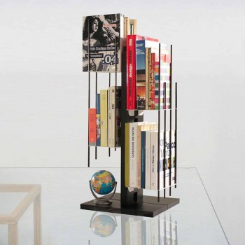 Modern design column bookcase Zia Veronica in solid beech