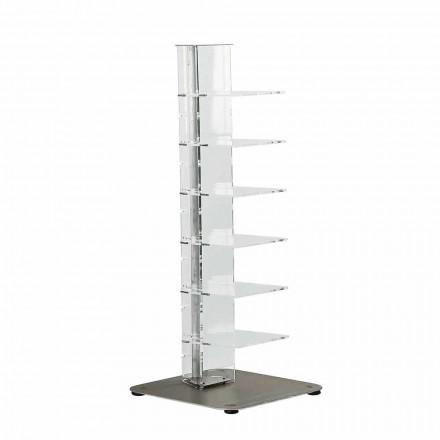 Modern design bookcase Jesse, made of methacrylate 35x35x100 cm