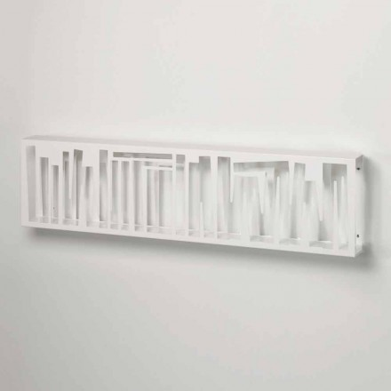 Modern Design Wall Bookcase in White Metal Made in Italy - Bolivia