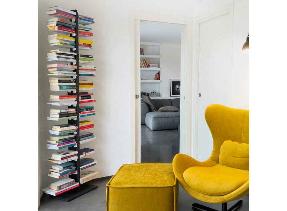 Zia Bice bookcase fixed to the wall and shelves made in Italy