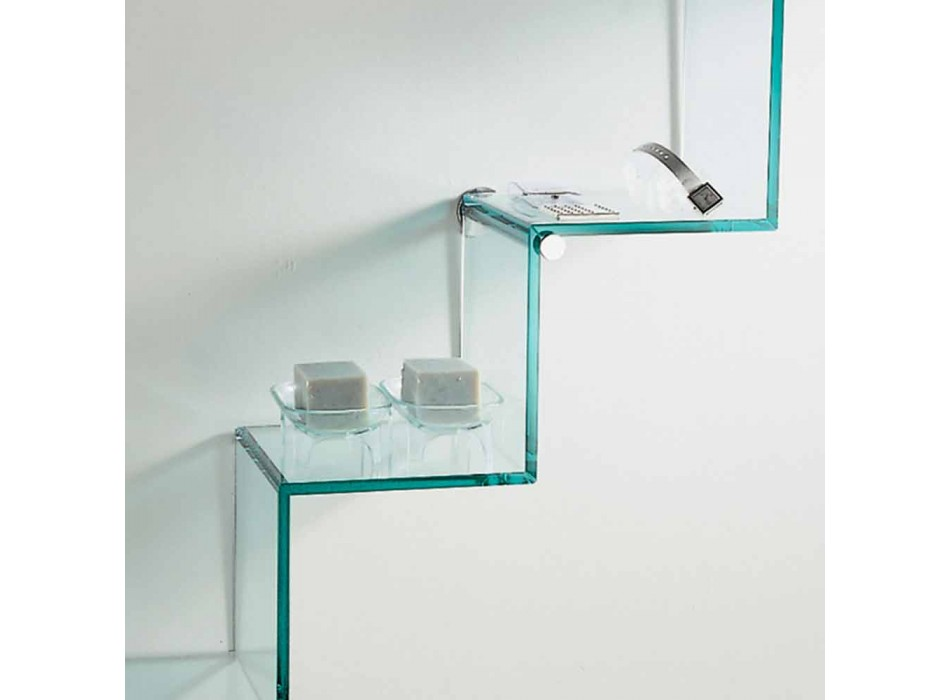 Bookcase for Objects on the Wall Original Design in Glass Ladder - Volano