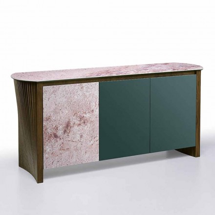Luxury Sideboard in Gres with Structure in Wood and Mdf Made in Italy - Cunea