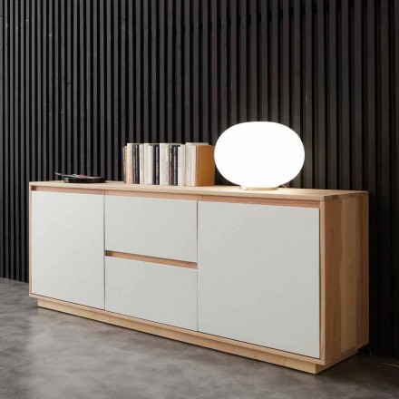 Sideboard Oregon, made of ash wood veneer, modern design