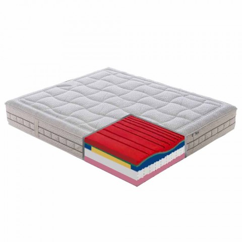 25 cm High Quality Memory Double Mattress Made in Italy - Platinum