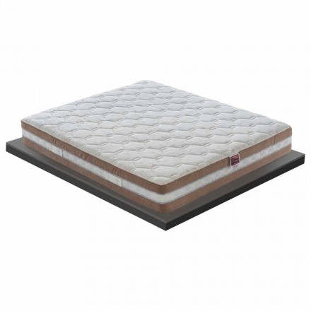 25 cm High Quality Memory Mattress Made in Italy - Charcoal
