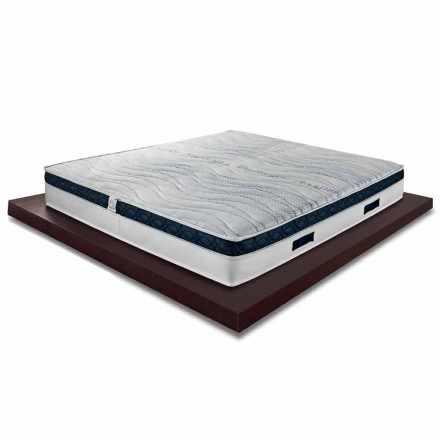 Square and Medium High Mattress 22 cm in Luxury Memory Made in Italy - Duran