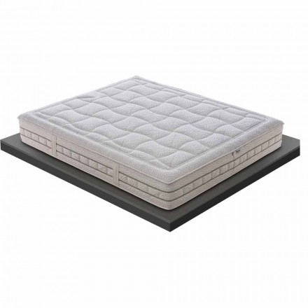 One and a Half Mattress in Luxury Memory H 25 cm Made in Italy - Platinum