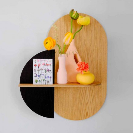 Modern Design Wall Shelf with 3 Modular Plywood Panels - Elena
