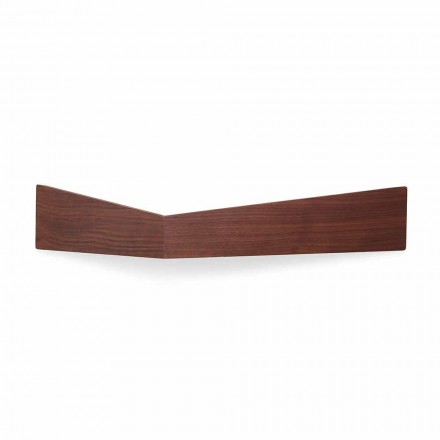 Design Wall Shelf in Plywood and Metal with Coat Rack - Berema
