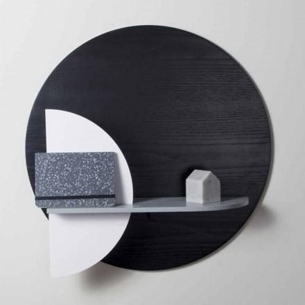 Design Shelf in Varnished Multilayer Composed of Modular Panels - Livia