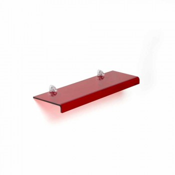 Modern design shelf in methacrylate L90xP15 cm, Jack