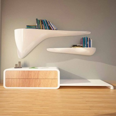 Modern design shelf made in Italy, Sizzano