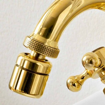 Bidet Mixer Classic Style Brass Made in Italy - Ursula